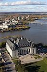 Supreme Court of Canada and the Ottawa River, Ottawa, Ontario, Canada