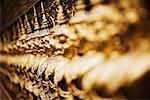 Kunstvolle Statuen, Wat Phra Keo, Bangkok, Thailand