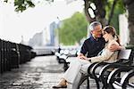 Couple on Park Bench, London, England