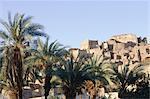 Algérie, Sahara, Tassili Ajjer national park, oasis de Djanet, vieux ksar.
