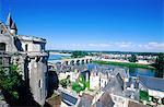France, Centre, Amboise, vue depuis le jardin du château