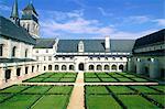 France, Pays de la Loire, Fontevraud l'Abbaye, abbey