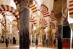 Espagne, Andalousie, Cordoue, la Mezquita, arches