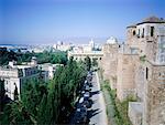 Espagne, Andalousie, Malaga, vue depuis la forteresse de l'Alcazaba