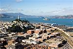 Overview of San Francisco, California, USA