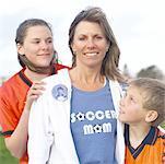 Soccer Mom avec des enfants