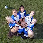 Huddle équipe de Soccer féminine