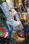 Schuhgeschäft, Wochenendmarkt Chatuchak, Bangkok, Thailand