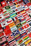 Internationale Fahne-Souvenirs, Wochenendmarkt Chatuchak, Bangkok, Thailand