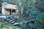 Bain chambre cabine, Cradle Mountain-Lake St Clair National Park, Tasmania, Australie