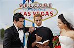 Couple de se marier à Las Vegas, Nevada, USA