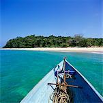 Ansicht des Ufers vom Boot, Contadora Island, Panama