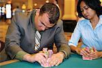 People Playing Poker, Las Vegas, Nevada USA