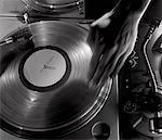 Deejay Spinning Record