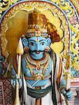 Sri Archunar divinité au Temple de Sri Mariamman, Singapour