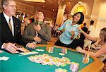 People Playing Poker at Casino, Las Vegas, Nevada