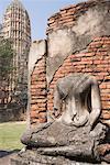 Statue de Bouddha acéphale, Wat Chai Wattanaram, Ayutthaya, Thaïlande