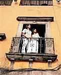 Couple Standing on Balcony, Mexico