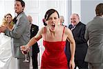 Bridesmaid Yelling at Wedding
