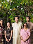 Porträt der Familie im freien