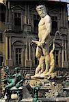 Italie, Florence, fontaine de Neptune