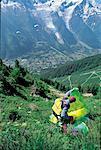 France, Alps, Mont Blanc region, paragliding