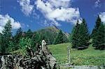 Paysage du Tyrol, Allemagne.