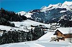 France, Alps, Megeve, chalets