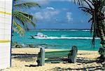 Français des Antilles, Guadeloupe, Marie Galante, plage.