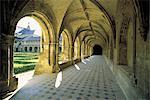 France, Pays de la Loire, abbey of Fontevraud, cloister