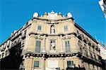 Italie, Sicile, Palerme, la place de Quattro canti