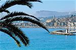 France, French Riviera, Menton bay