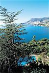 France, French Riviera, Monaco from Cape Ferrat
