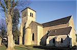 France, Côte d'or (21), Bourgogne, Gevrey, église romane