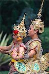 Danse Lakhon de Thaïlande, Bangkok, dans le Palais de Wiman Mak