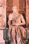 Italie, Rome, Vatican, San Pietro in prononcée église, statue de Moïse de Michel-Ange sur la tombe du pape Julius II