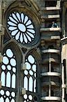 Spain, Barcelona, Sagrada Familia, the nave.