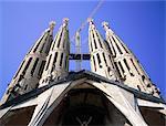 Espagne, Barcelone, travaille sur la Sagrada Familia