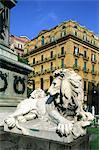 Italy, Campania, Naples, statue