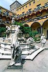 Italy, Campania, Naples, San Armano monastery, fountain