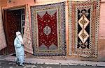 Femme voilée Maroc, Rabat,