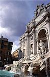 Italie, Rome, fontaine de Trevi