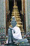 Thailand, Bangkok, Wat Phra Keo temple, offerings