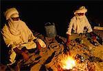 Algeria, Hoggar, Tuareg making tea