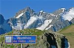 France, Alps, Galibier mountain and La Meije massif