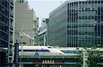 Japan, Tokyo, high speed train Shinkanzen