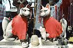 Temple de Japon, Tokyo, shintoïst, l'autel de Inari Dieu-fox