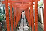 Japan, Tokyo, shintoïst temple, toriis