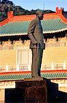 China, Taiwan, Taipei, Chiang Kai Shek statue and National History museum