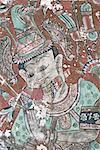 Myanmar, Bago, Shwe Tha Lyaung temple, paintings